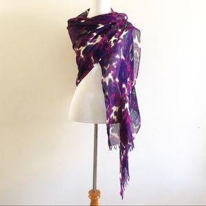 Pls Read - Scarf Wrap Shawl Purple Floral Print